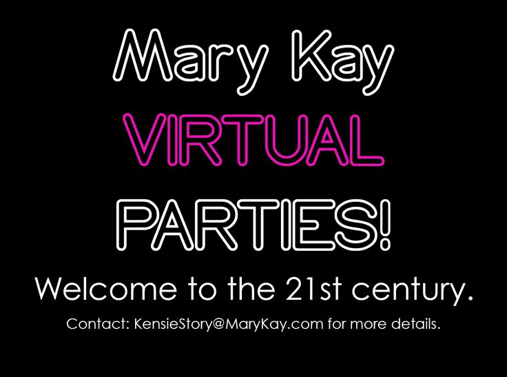 Busy schedule? Can't fit guests in your small apartment? Live far away? DON'T WORRY because now you can still host a Mary Kay party…VIRTUALLY! Mary Kay Virtual Parties give you the benefits of being a host ONLINE! We will learn about the products and play interactive games without even getting out of our PJs! Guests and host will earn points by participating in the party. The guest with the most points in the end earns a prize from me! Questions? Contact me at KensieStory@MaryKay.com!