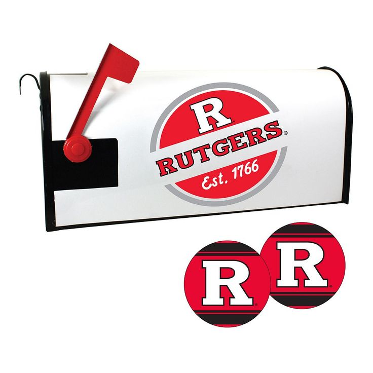 Rutgers Scarlet Knights Magnetic Mailbox Cover & Decal Set, Multicolor