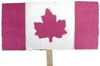 Canada Day Fan - an easy-to-make craft for the kids! Oh, and it might help you keep cool in the sun on Canada Day too.