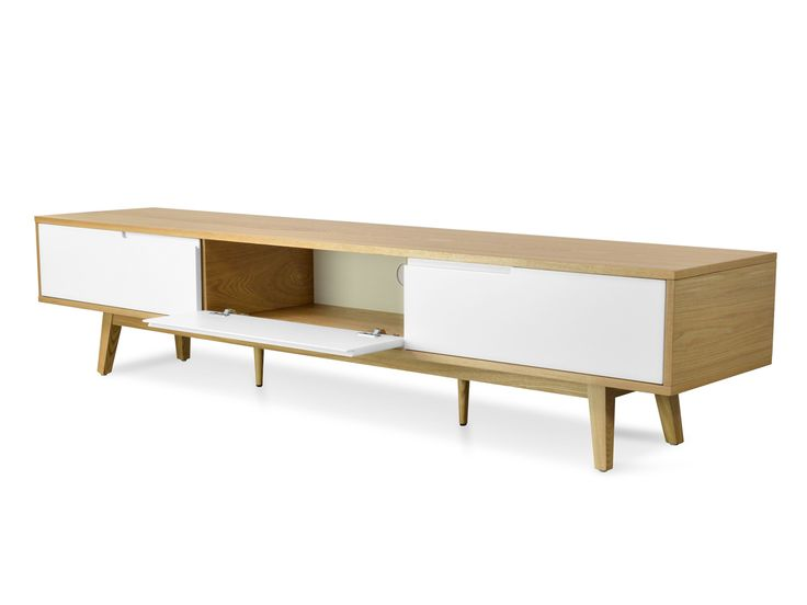 Marc 2.1m Scandinavian Lowline TV Entertainment Unit - Natural - TV Units - Living $755