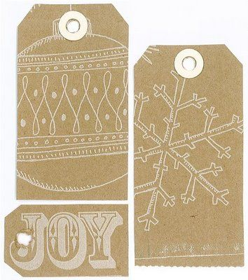 Gift Tags from Trader Joe's bags...this could work with any store bag with a nice design.