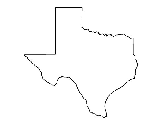 Texas Pattern. Use The Printable Outline For Crafts