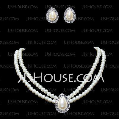 Jewelry - $9.99 - Elegant Alloy With Pearl/Rhinestone Women's Jewelry Sets (011016320) http://jjshouse.com/Elegant-Alloy-With-Pearl-Rhinestone-Women-S-Jewelry-Sets-011016320-g16320