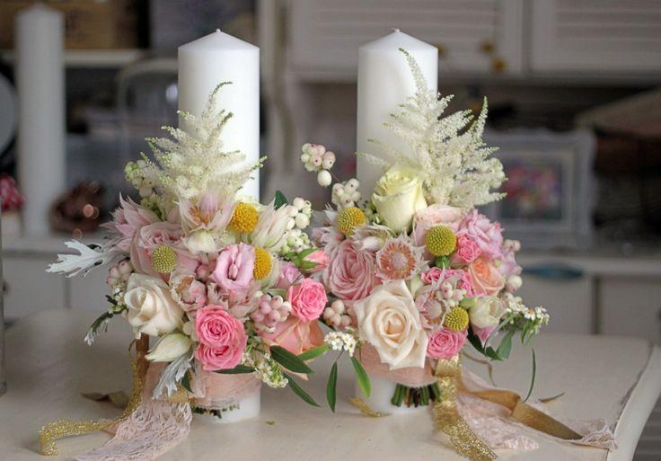 Lumanari nunta scurte/Wedding candles