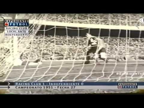 07/10/1951. Primera División. Fecha 27. Racing Club - Independiente (Res...