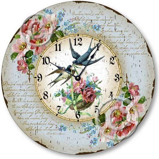 Shabby chic, cottage style Victorian romance on this beautiful clock. fairy-freckles.com