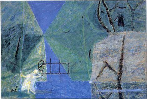 Piotr Potworowski, Channel in forest on ArtStack #piotr-potworowski #art
