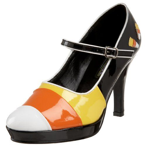 Funtasma by Pleaser Women's Contessa-55 Platform Mary Jane,Black/Yellow/Orange/White Patent,6 M US