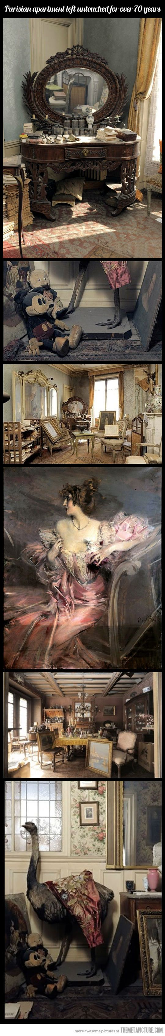 Parisian apartment untouched for 70 years, how beautiful and amazing!