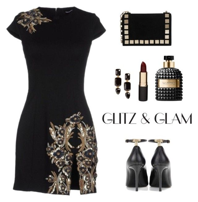 """""""Glitz & Glam!"""" by diane1234 ❤ liked on Polyvore featuring Tom Ford, Tomasini, Dsquared2, Loren Hope, Valentino, Mimco, party, glam and glitz"""
