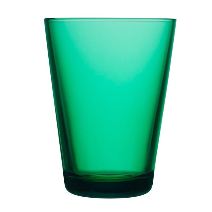 Kartio is one of the finest examples of Kaj Franck's design and of the subject matter that continually fascinated him – the basic drinking glass. When designing, Kaj shed all things unnecessary and superfluous. The timeless Kartio Glass stuns with its pure geometric shape and glorious colours. Kaj Franck received numerous Finnish and international awards and prizes. Emerald green Kartio glasses, bursting with summer vitality.
