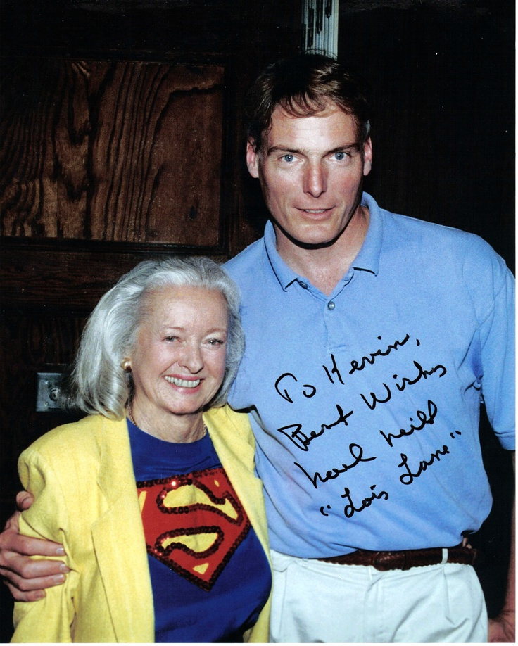 "Noel Neil (Lois Lane from the TV series ""The Adventures Of Superman"", and Christopher Reeve... no intro necessary."