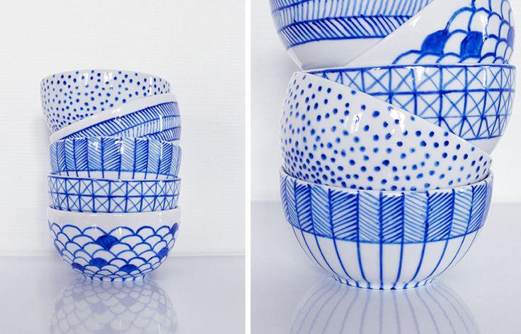 Passion ceramique: La bolinette – DIY blanc / bleu
