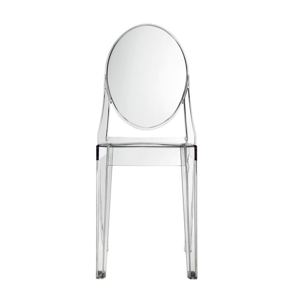Philippe starck style ghost side chair clear