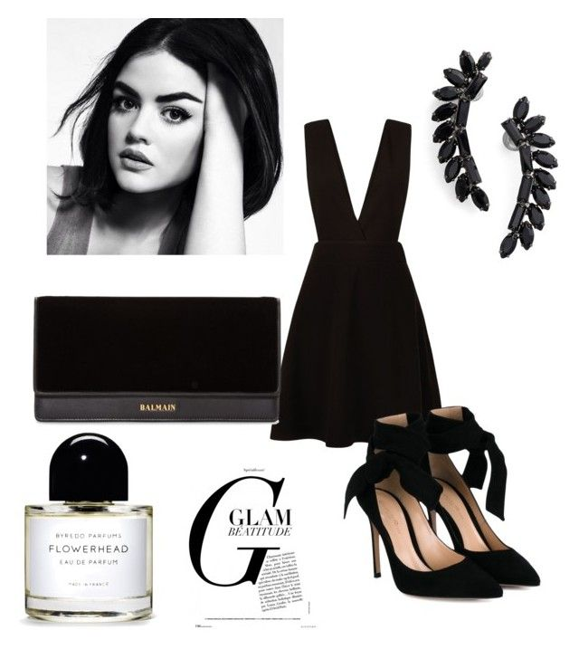 """""""back to the basics"""" by harrietbuick ❤ liked on Polyvore featuring New Look, Gianvito Rossi, Balmain and Cristabelle"""