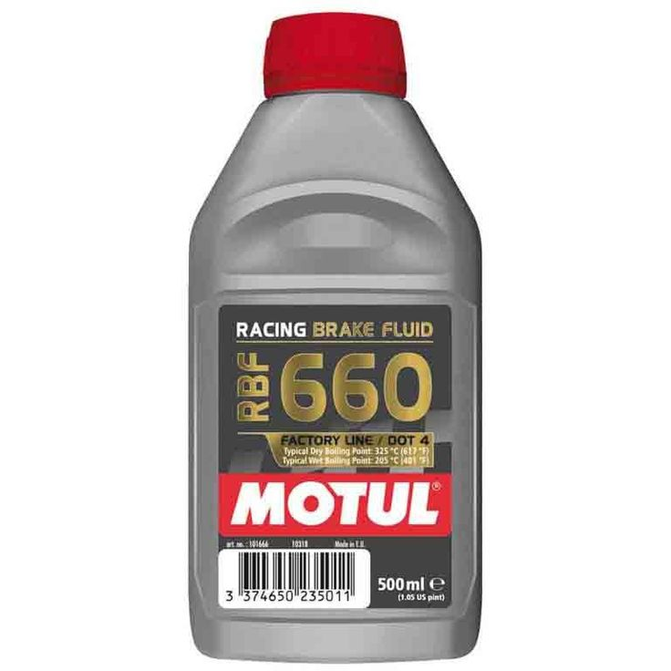 Motul RBF 660 - Factory Line. DOT-4 Racing (500ml). 100% Synthetic Brake Fluid.
