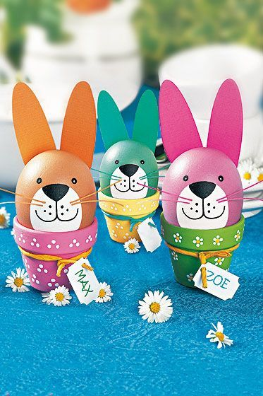 Make funny bunny easter eggs  #bunny #easter #funny