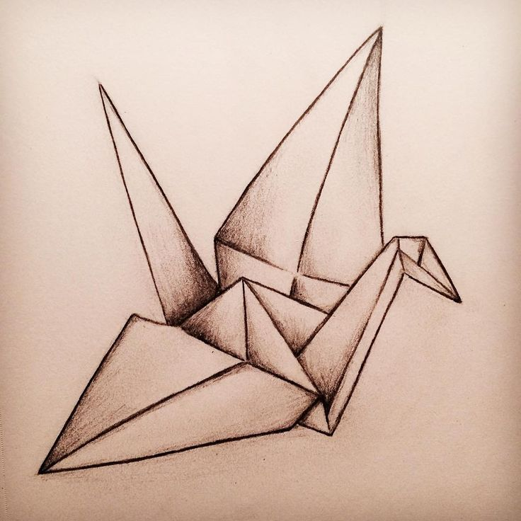 рисунок с оригами имеет очень