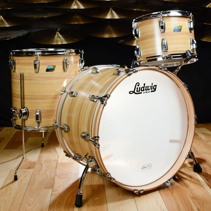 Ludwig Classic Maple 13/16/22 3pc Drum Kit Butcher Block
