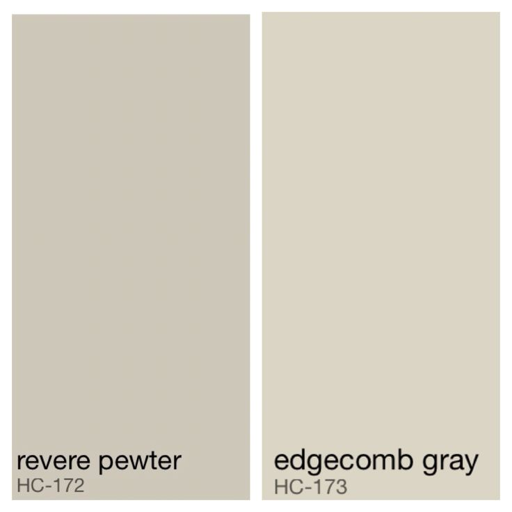Benjamin Moore MasterBath color - Revere Pewter walls, Edgecomb Gray ceiling
