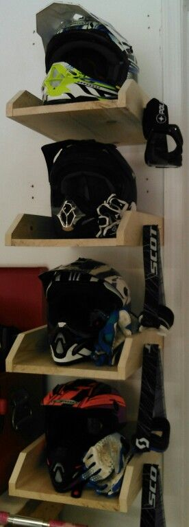Helmet holder! OMG! My husband needs this!