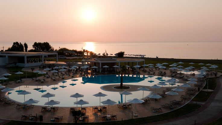 Another amazing sunset over Rhodes and Sentido Apollo Blue Hotel