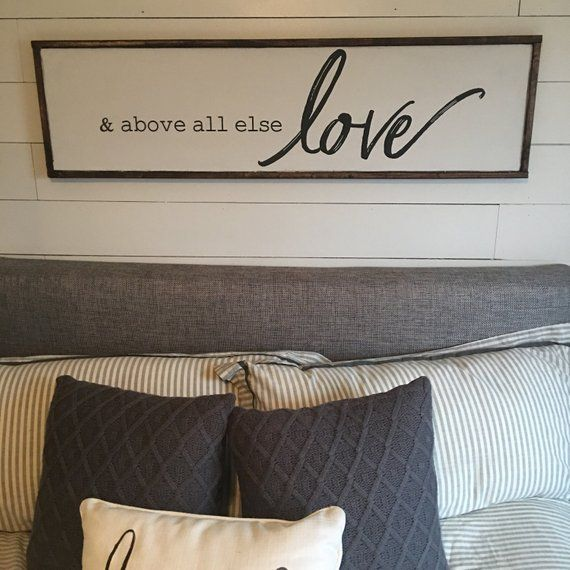 above all else. above the bed sign [FREE SHIPPING!] in 2020 ...