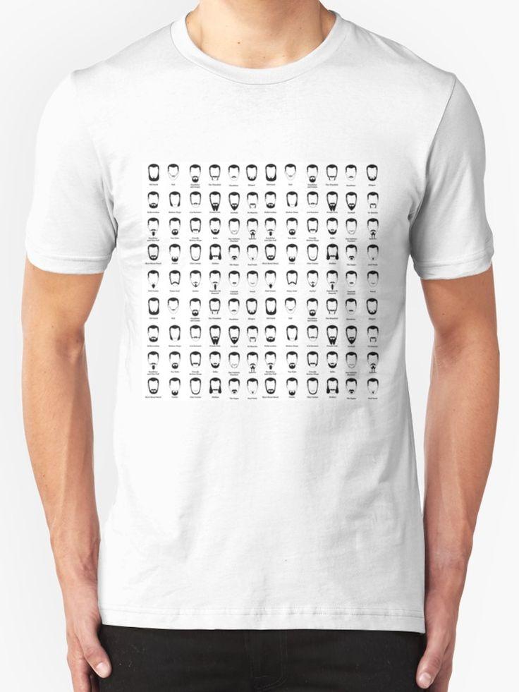 Beard types pattern by MomaBjekovic