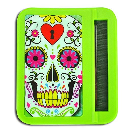 Glow In The Dark Roll Your Own Cigarette Case Hard Plastic Printed