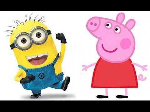 peppa pig disfraces divertidos en español   #peppapig minions   Mi villa...