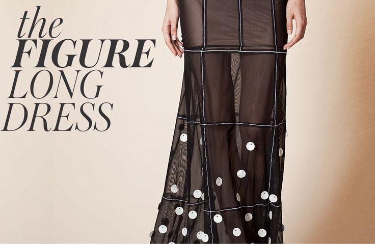 """What are the special ingredients for the Figure long dress? Leather sequins embroidered on the dress and seams that """"draws"""" the perfect silhouette.  #murmurstore  Shop it here> http://www.murmurstore.com/product/figure-long-dress"""