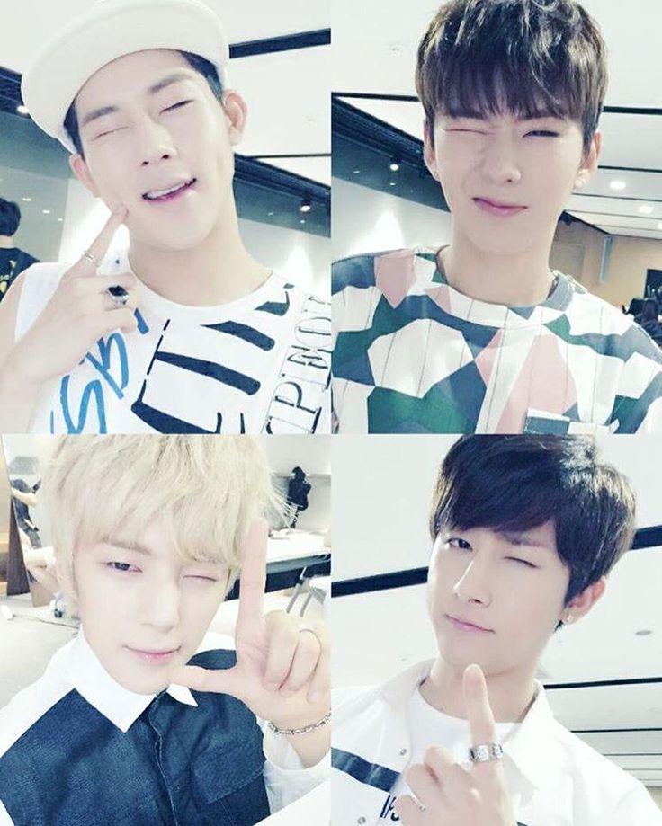 Monsta X, Jooheon, I.M, Minhyuk and Kihyun See this Instagram photo by @wonhoeisadumbhoe