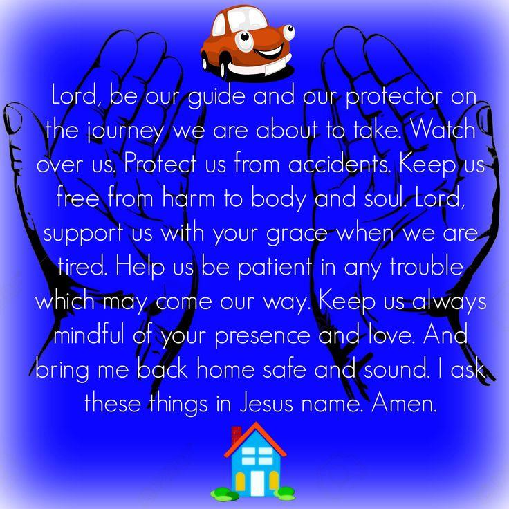 Prayer for Safe Travels