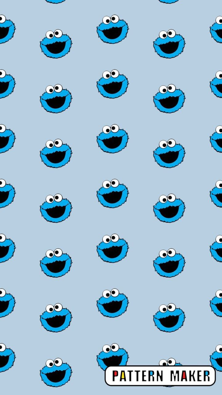 Find Images And Videos On We Heart It The App To Get Lost In What You Love Cookie Monster Wallpaper Iphone Wallpaper Pattern Wallpaper Iphone Cute