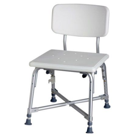 Medline Bariatric Aluminum Bath Chair 550 Lbs Capacity White Bath Bench Shower Chairs For Elderly Bench With Back