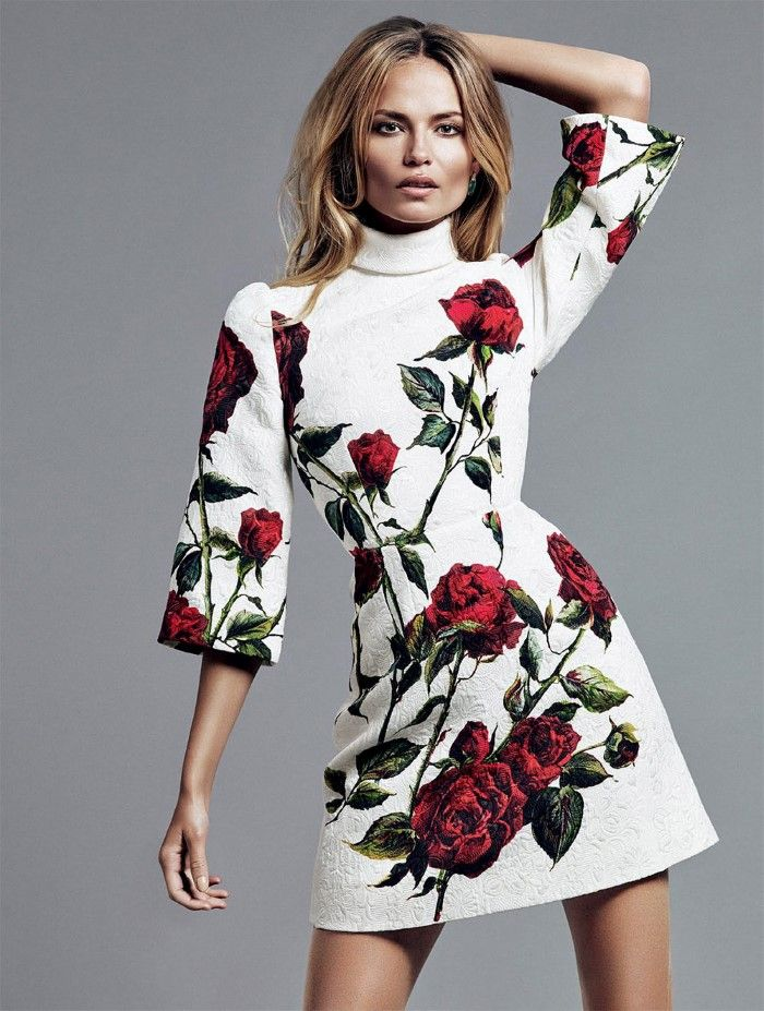Natasha Poly Flowers In Alique Images For Glamour Russia September 2015 - 3 Sensual Fashion Editorials | Art Exhibits - Women's Fashion & Lifestyle News From Anne of Carversville
