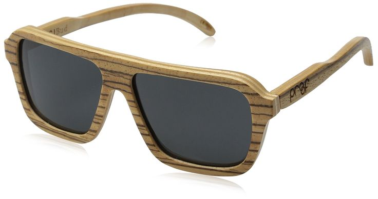 Proof Sunglasses Bud Wood Polarized Rectangular Sunglasses. Handmade from sustainably sourced wood, CR39 lens / 100 Percent. Quote Inside: Be You Not Them. Comes with a wood box & microfiber pouch. UVA-UVB protection, Stainless steel spring loaded hinges, Water-resistant.