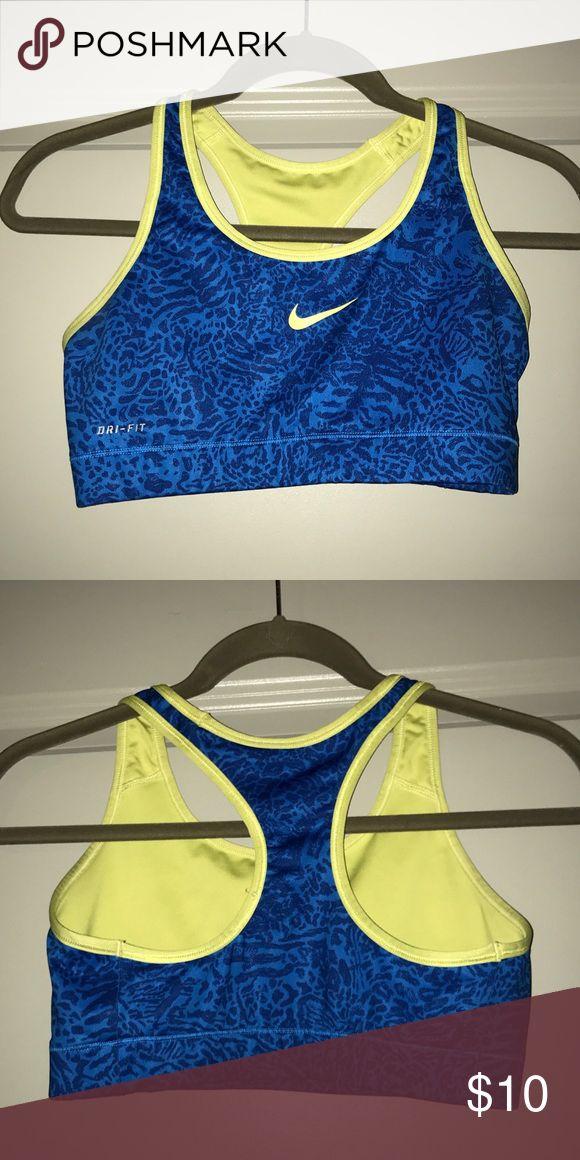 Leopard print Nike sports bra Great condition! Looks new! Size small! Nike Intimates & Sleepwear Bras