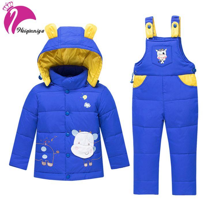 Sports Suit For Boy Winter Down Parkas Coat+Romper Suit For Boy Cotton Character Windbreaker Children Clothing Sets Boys Clothes #Affiliate