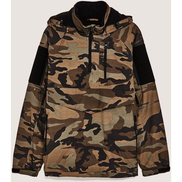 CAMOUFLAGE HOODIE - View All-JACKETS-MAN-SALE | ZARA United States (€42) ❤ liked on Polyvore featuring tops, hoodies, camo hoodie, camo print hoodie, camo browning hoodie, camouflage top and browning camo hoodies