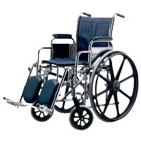 Medline Excel Narrow Wheelchair, Removable Full Length Arms,  Swing Away Detachable Footrests, Each, MDS806250NFLA - http://healthandsciencestore.com/HealthStore/medline-excel-narrow-wheelchair-removable-516681738/