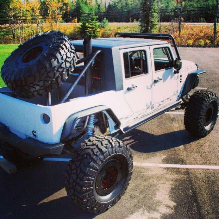 Jeep wrangler with Big tires and Big spare tire