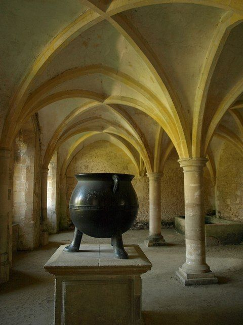 Warming house, Lacock Abbey. Professor Quirrell's Defense Against the Dark Arts room!