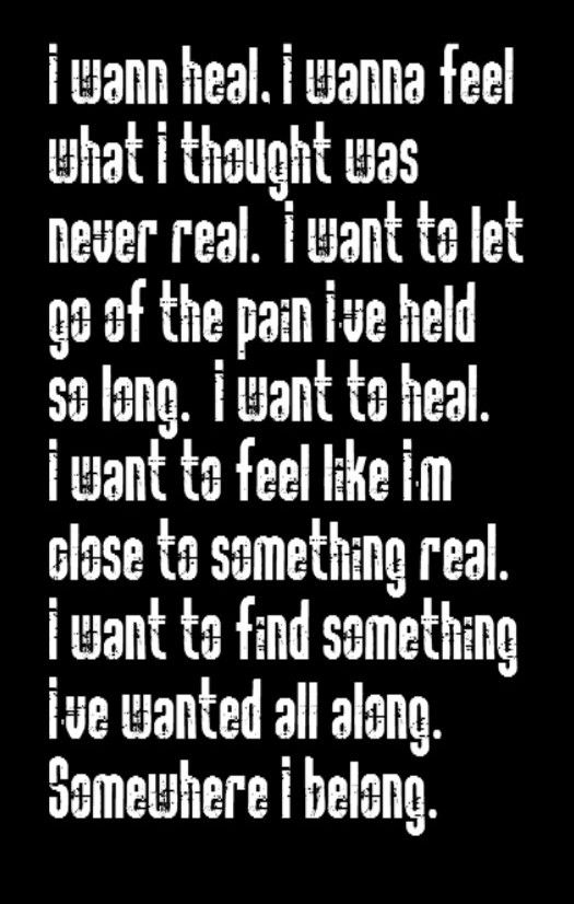 Linkin Park - Somewhere I Belong - song lyrics, music quotes, song quotes, songs