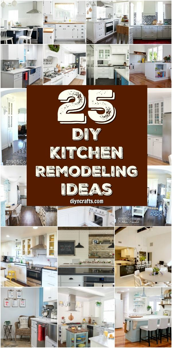 25 Inspiring DIY Kitchen Remodeling Ideas That Will Frugally Transform Your Kitchen { Curated and Created by DIYnCrafts.com } via @vanessacrafting