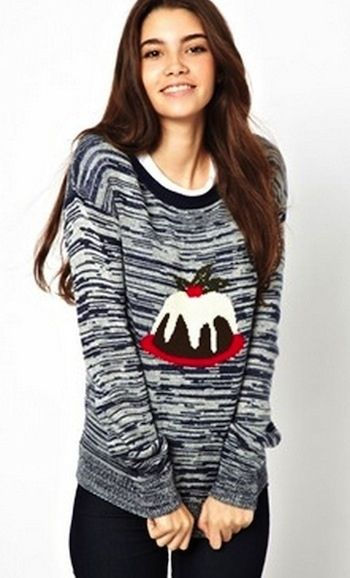 Christmas pudding jumper, $45.37 | 21 Cute Ways To Channel Christmas Without Being Tacky
