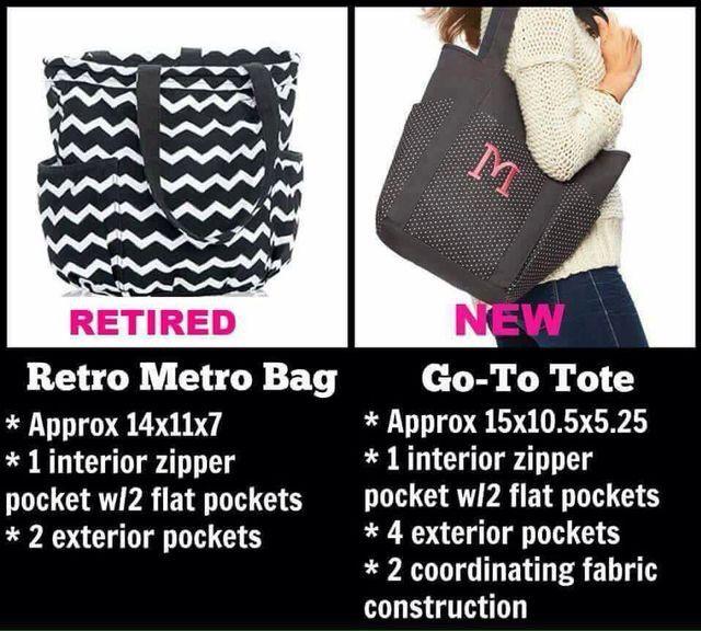 Thirty-One Retro Metro Bag vs Go-To Tote