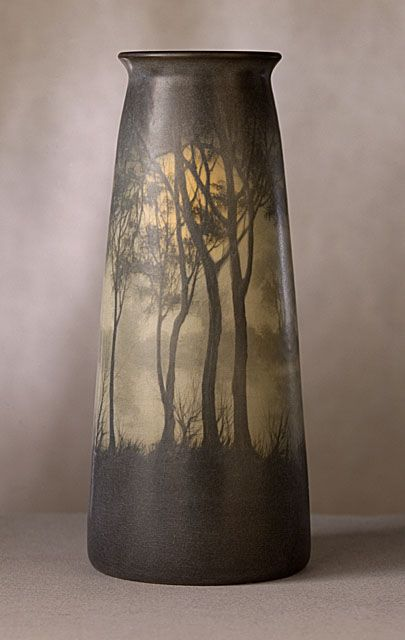Rookwood Pottery (United States, Ohio, Cincinnati, 1880 - 1960) , Edward Timothy Hurley (United States, 1869 - 1950) Vase, 1909, really like it