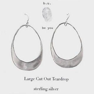 b.u. Earrings - Cutout Teardrop Hoops