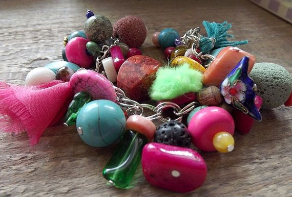 Colourful bracelet in the style of Boho. by AcoyaJewellery on Etsy